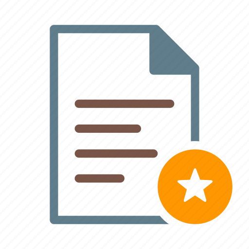 doc, document, favourited, file, star, text icon