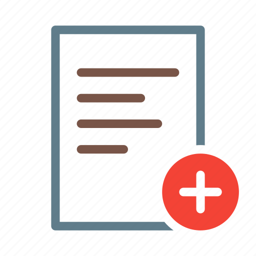 add, doc, document, file, text icon