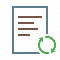 arrow, document, file, synchronize, syncing, text icon