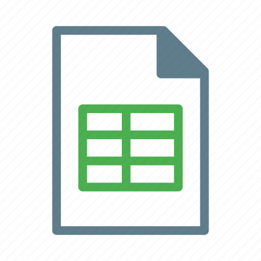 csv, data, document, file, spreadsheet, table icon