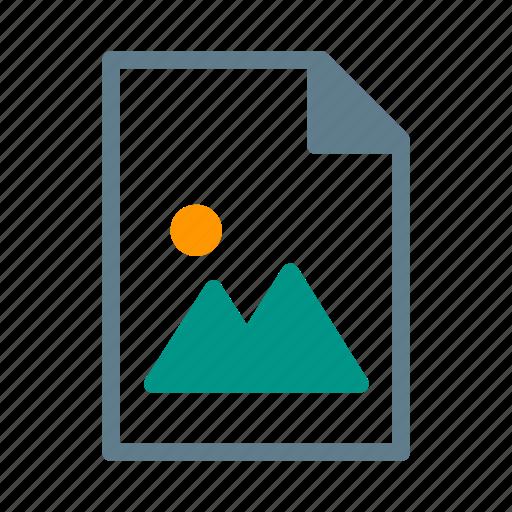 document, file, image, photo, picture icon