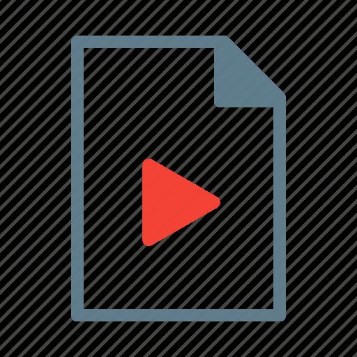 document, file, movie, mp4, video icon