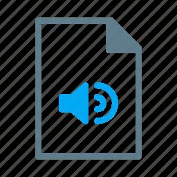 audio, document, file, mp3, music icon