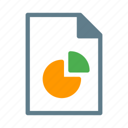 chart, document, file, pie, presentation, report icon