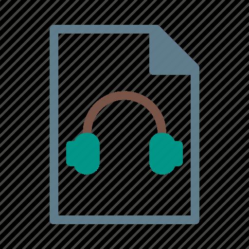 audio, document, file, headphone, mp3, music icon