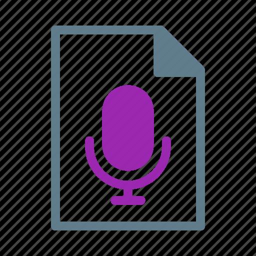 audio, document, file, mp3, record, sound icon