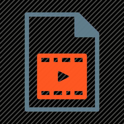 document, file, film, movie, video, wmv icon