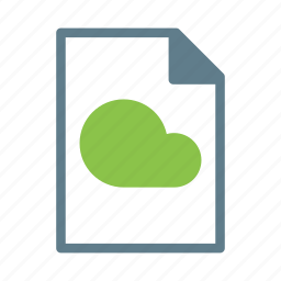cloud, doc, document, file, text icon