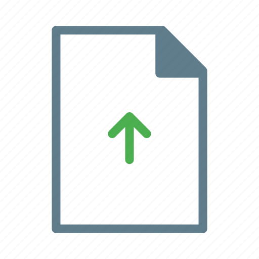 arrow, document, file, text, upload icon