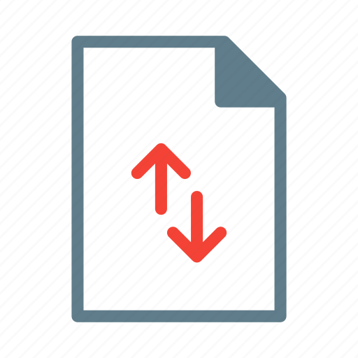 arrow, connect, document, download, file, text icon
