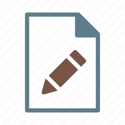 document, edit, file, pen, text icon