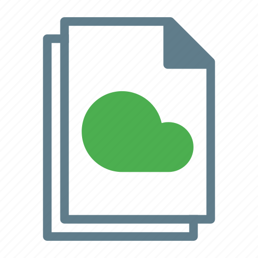 cloud, document, file, files, text icon