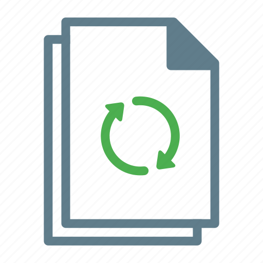 document, file, files, sync, syncing, text icon