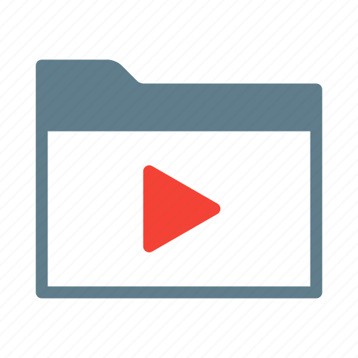 collection, folder, group, movie, mp4, video icon
