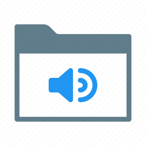 audio, collection, folder, group, mp3, music icon