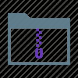 collection, compress, folder, group, rar, zip icon