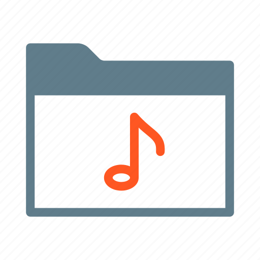 collection, folder, music, note, song icon