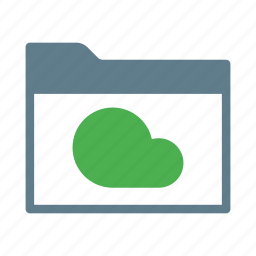 cloud, collection, directory, folder, group icon