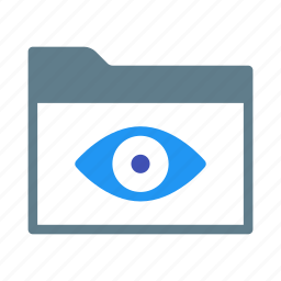 collection, eye, folder, group, readonly, view icon