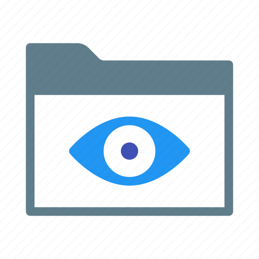 Collection, eye, folder, group, readonly, view icon - Download on Iconfinder