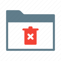 collection, delete, folder, group, remove, trash icon
