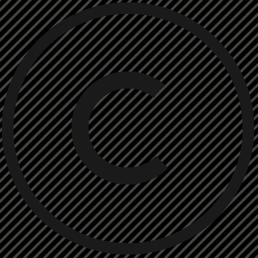atm, c, copy, copyright, function, round icon