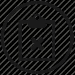 ban, del, delete, desc, planning, stop, work icon