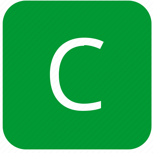 c, green, keyboard, keypad, letter, uppercase icon