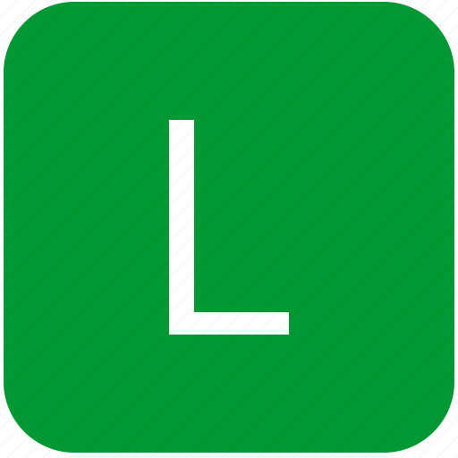 green, keyboard, keypad, l, letter, select, uppercase icon