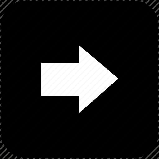 arrow, keyboard, keypad, navigation, next, right icon