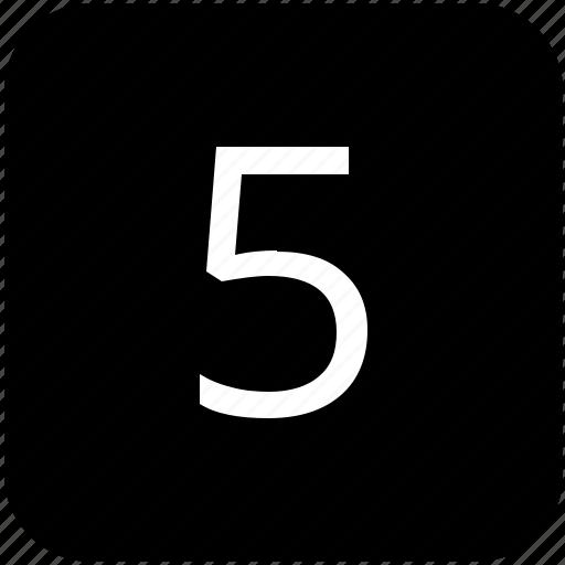 fifth, five, keyboard, keypad icon