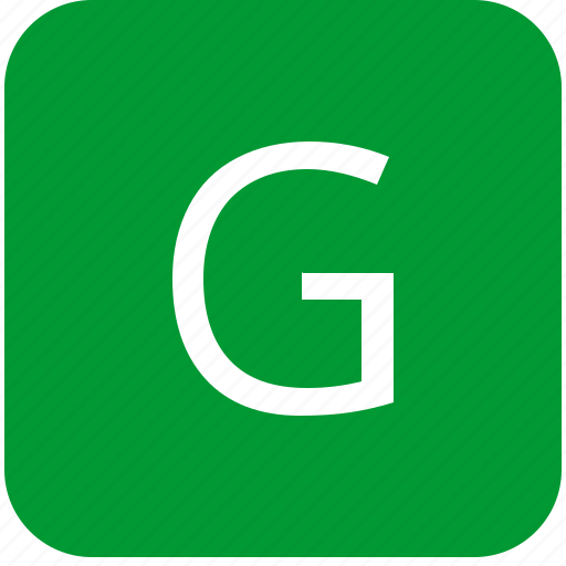 g, green, keyboard, keypad, letter, uppercase icon