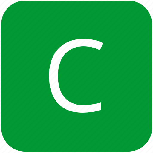 c, green, keyboard, keypad, letter, select, uppercase icon