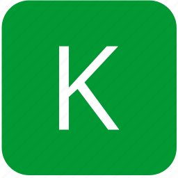 green, k, keyboard, keypad, letter, select, uppercase icon