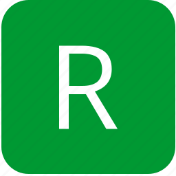 green, keyboard, keypad, letter, r, select, uppercase icon