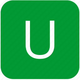 green, keyboard, keypad, letter, select, u, uppercase icon