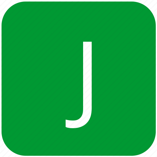 green, j, keyboard, keypad, letter, select, uppercase icon
