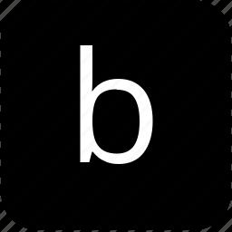 b, keypad, latin, letter, lowcase icon