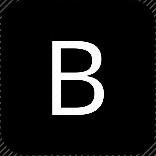 b, keypad, latin, letter, uppercase icon