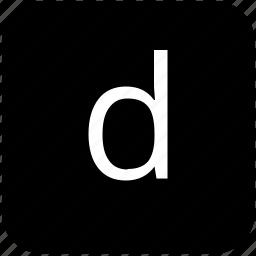 d, keypad, latin, letter, lowcase icon