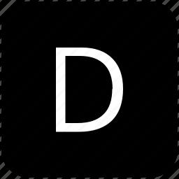 d, keypad, latin, letter, uppercase icon