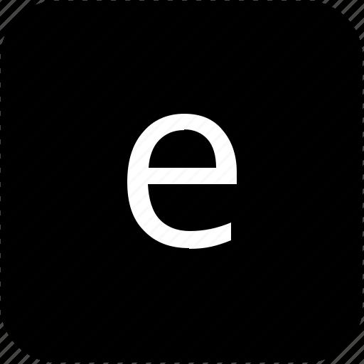 e, keypad, latin, letter, lowcase icon