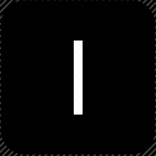 i, keypad, latin, letter, uppercase icon