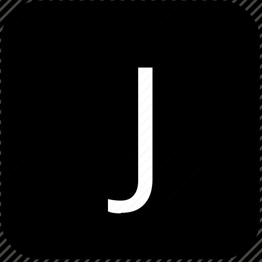 j, keypad, latin, letter, uppercase icon