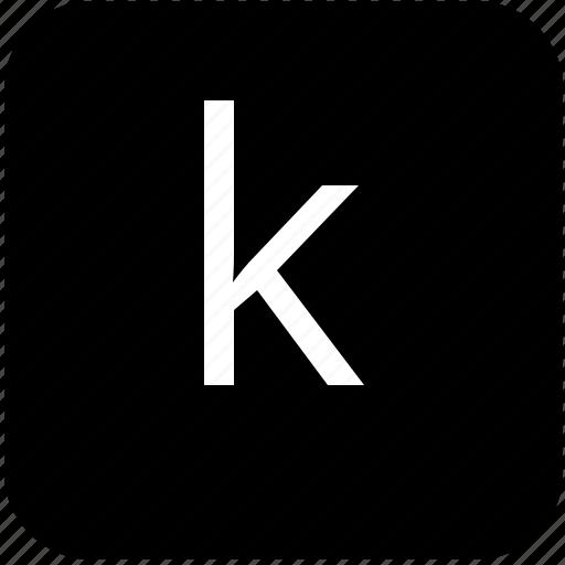 k, keypad, latin, letter, lowcase icon