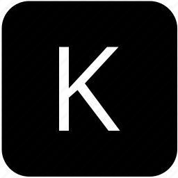k, keypad, latin, letter, uppercase icon