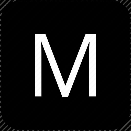 keypad, latin, letter, m, uppercase icon