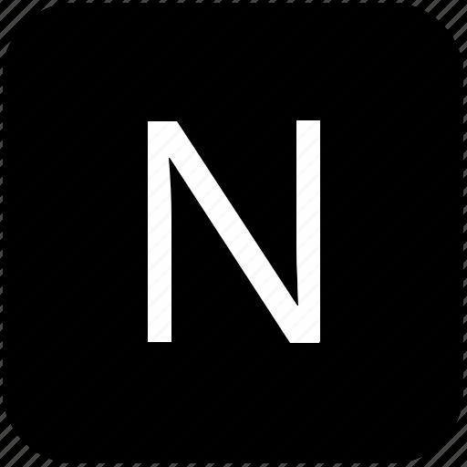 keypad, latin, letter, n, uppercase icon