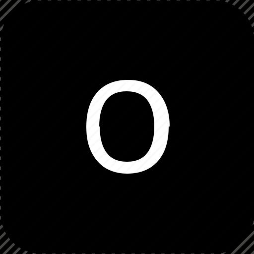 keypad, latin, letter, lowcase, o icon