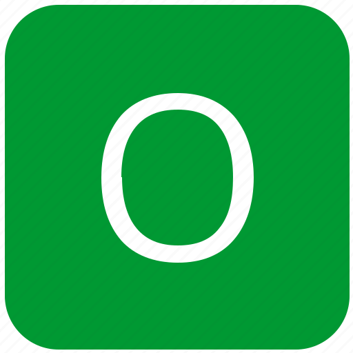 green, keyboard, keypad, letter, o, select, uppercase icon